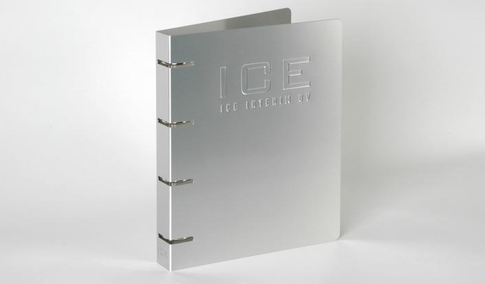 ice interim aluminium ringband met preeg