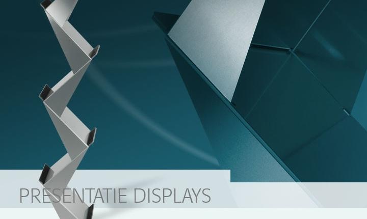 aluminium presentatie displays